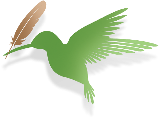 Bird with feather graphic